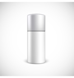 Blank cosmetics bottle with copy space vector image vector image