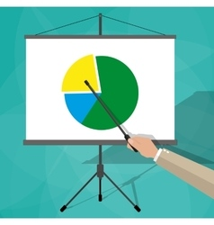 Businessman giving presentation vector