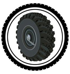 Car wheel vector