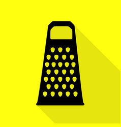 Cheese grater sign black icon with flat style vector
