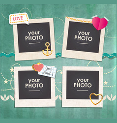 collage photo frame vector image vector image
