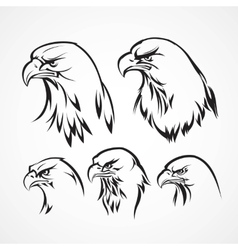 Eagle badge template Silhouette vector image vector image