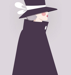 Elegant woman background vector