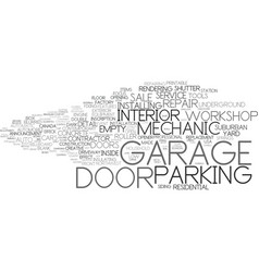 Garage word cloud concept vector