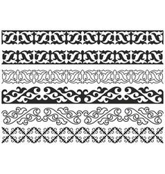 Kazakh pattern vector image vector image