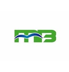 Letter m and b logo bm logo vector