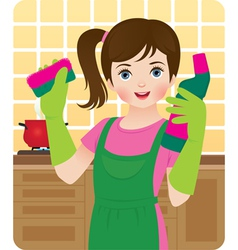 Little housewife vector image vector image