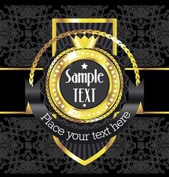 Luxury golden vintage label vector