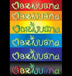 Marijuana design street grafitti text vector image vector image