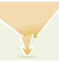 Paper Origami Arrow vector image vector image