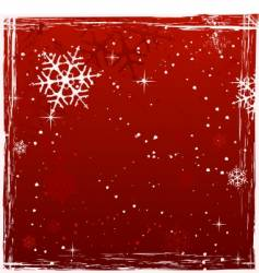Red square grunge christmas background vector