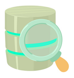 Searching database icon cartoon style vector