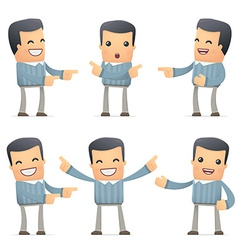 set of customer character in different poses vector image vector image
