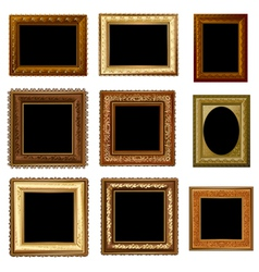 Set retro frame vector