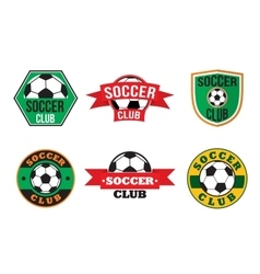 Soccer club logos set vector