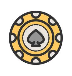 Spade chip vector