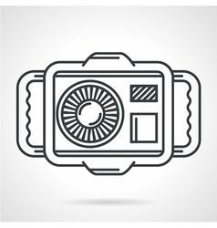 Sport camera black line icon vector