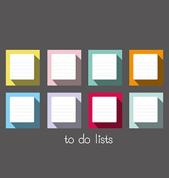 to do lists long shadow blank vector image vector image