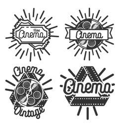 Vintage cinema emblems vector image