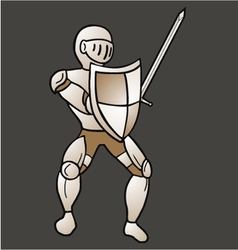 Vintage medieval warrior vector