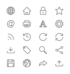 Web thin icons vector image