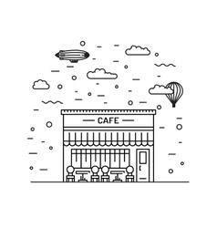 Cafe outline vector