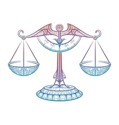 Justice scales zodiac libra zentangle sign vector