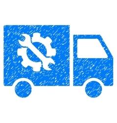 Equipment truck grainy texture icon vector