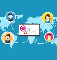 world business people teamwork success vector image