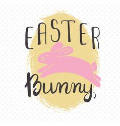 Easter greeting card - easter bunny vector