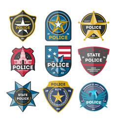 Police department badge set vector