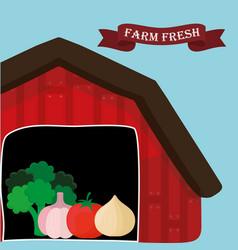 Farm fresh vegetables natural health vector