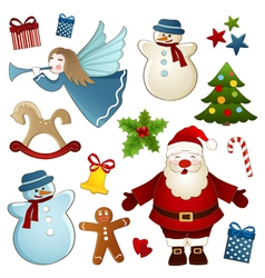 Christmas isolated elements vector