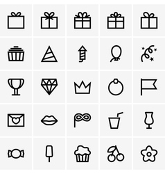 Celebration icons vector
