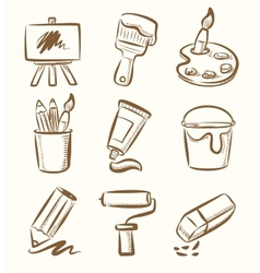 Art icon set vector