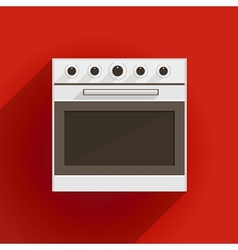 Flat of oven vector