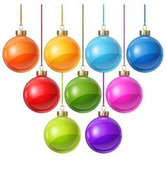Christmas balls isolated on white for design vector image