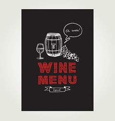 Cocktail wine bar menu template design vector