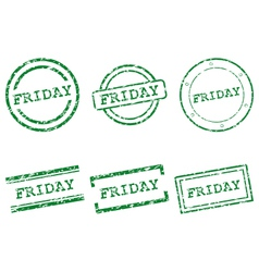 Friday stamps vector