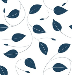 Fallling leaves in a seamless pattern vector