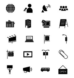 Media and advertisement icons 3 vector
