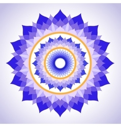 Abstract painted picture mandala of sahasrara vector