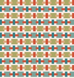 Vintage background with geometrical shapes vector image