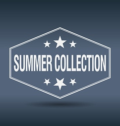 Summer collection hexagonal white vintage retro vector