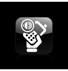 audio phone icon vector image