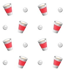 Beer pong seamless pattern vector
