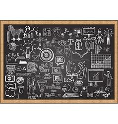 business plan on chalkboard vector image vector image