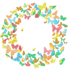 Butterfly frame wreath design element bright vector image vector image