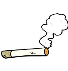 cartoon smoking cigarette vector image vector image