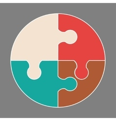 Circular colorful icon vector image
